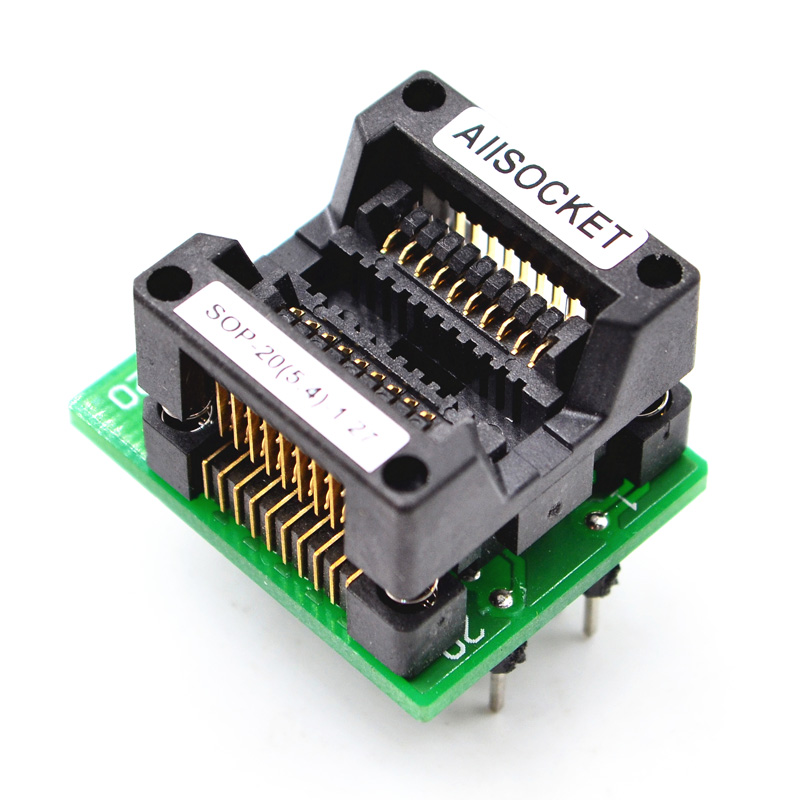 SOP20-SOIC20-SO20 Socket OTS20-1.27-01 Socket SOP20(5.4)-1.27 Socket High quality IC Test & burn-in socket for SOP20/SOIC20/SO20 package 135
