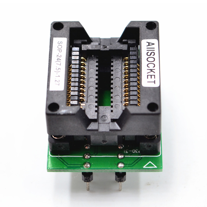SOP24-SOIC24-SO24 Socket OTS24(28)-1.27-04 Socket SOP24(7.5)-1.27 Socket High quality IC Test & burn-in socket for SOP24/SOIC24/SO24 package 139