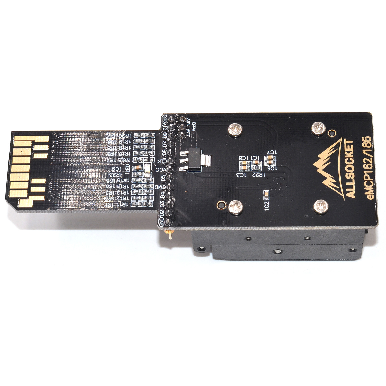 eMCP-BGA/eMCP186 BGA/eMCP162 Socket eMCP186 eMCP162 reader Socket DS3000-SD-emcp162+emcp186 Socket High quality IC eMCP162/186 reader for eMCP/BGA/eMCP186 BGA/eMCP162 package 11